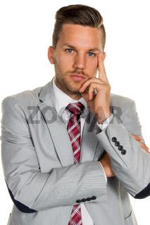 Nachdenklicher Manager