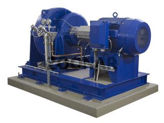 Industriekompressor auf Weiss