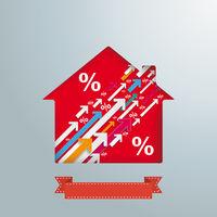 House Hole Upwards Arrows Percentage PiAd