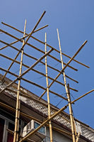 Scaffolding made of bamboo