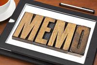 memo word on tablet
