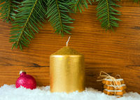 chrismas background with candle