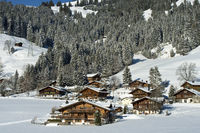 Swiss chalets, Saanenland, Switzerland