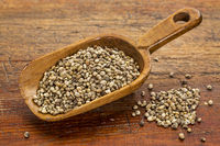 hemp seeds scoop