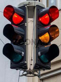 Verkehrsampel mit Rotlicht