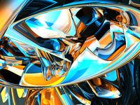 futuristischer metallhintergrund - 3d illustration
