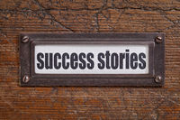 success stories label
