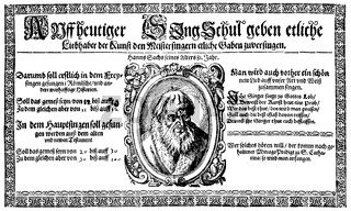 Hans Sachs, 1494 - 1576, a Nuremberg poet, playwright and Meistersinger