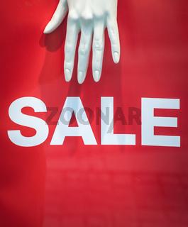 Mannequin Sale Sign