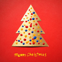 Gold paper Christmas tree