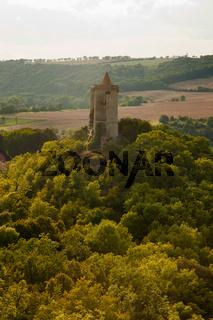 Blick zur Burg Saaleck