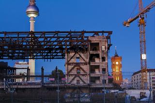 Abriss Palast der Republik, Berlin, Deutschland
