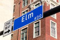 Street sign Elm Street