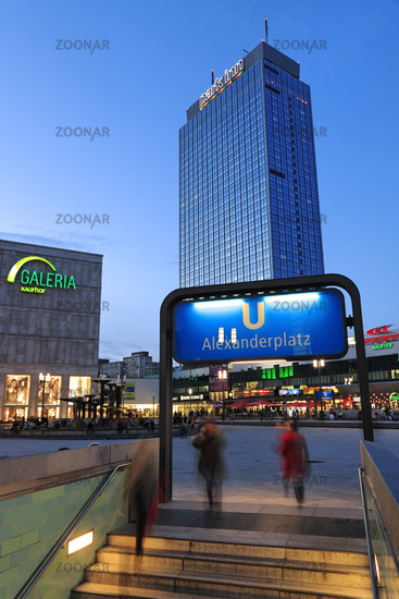 Subway entrance at Alexanderplatz Square, Berlin