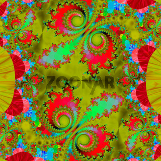 Colorful fractal decorative feature, magic splendor, wonderful harmony and fractal lines. A-0815.