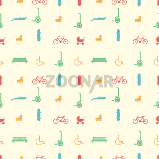 Vector background for active leisure in the park
