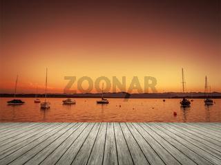 Tutzing sunset