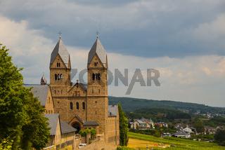 Abtei St. Hildegard, gegründet von Hildegard von Bingen, Benediktinerinnen-Abtei, Eibingen bei Rüdesheim, Bistum Limburg, Hessen, Deutschland, Europa