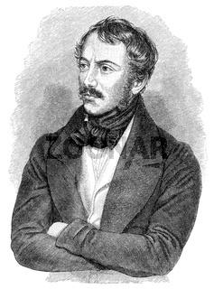 Nikolaus Lenau, 1802 - 1850, an Austrian writer of the Biedermeier period