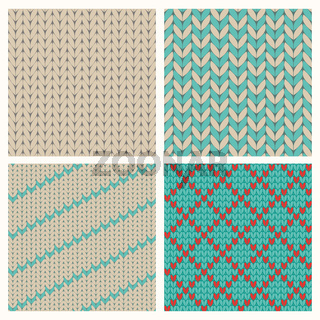 Set of seamless knitting patterns