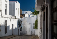 Narrow street of Vejer de la Frontera. Costa de la Luz, Spain
