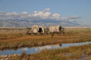 Ruine auf Pag, Kroatien