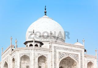 Taj Mahal in India, detail