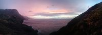 Colorful sunset over a tranquil coastline