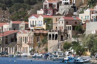 Boote vor der Insel Symi