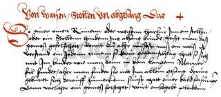 1549, manuscript by Joerg Wickram, 1505 - 1562, an Early Modern High German writer