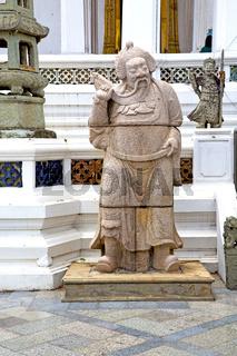 beard  in the temple bangkok asia   pavement