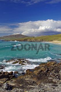 Wilde Strandlandschaft auf den Äußeren Hebriden