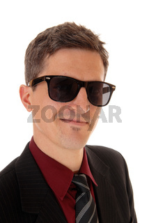 Portrait of smiling man.