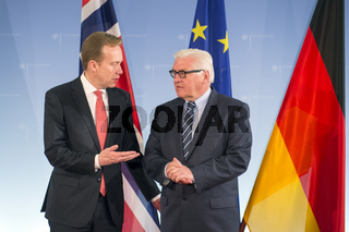 Steinmeier receives his counterpart from Norway
