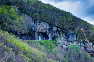 The Craggy Pinnacle Tunnel on the Blue Ridge Parkway in North Carolina.