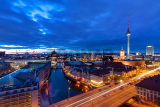 Das Zentrum von Berlin bei Nacht