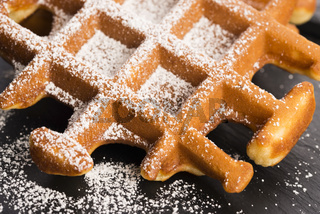 Waffles with sugar