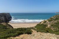 Bay on the west coast near Sagres