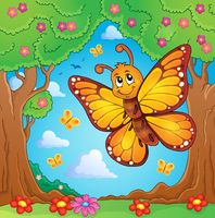 Happy butterfly topic image 4 - picture illustration.