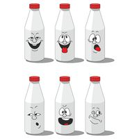 Milk smailing bottle set 002