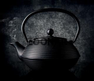 Black chinese teapot