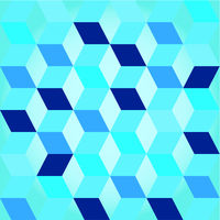 Seventies blue seamless modern