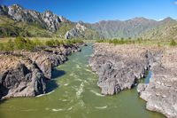 Teldykpen rapids on Altai river Katun near Oroctoi, Russia