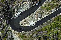 Hairpin bend of the Trollstigen mountain road, Norway