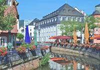 Downtown of Saarburg,Rhineland-Palatinate,Germany