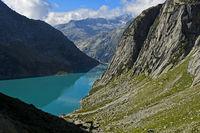 Hydroelectric water reservoir Lake Gelmersee, Bernese Oberland, Switzerland