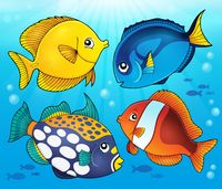 Coral reef fish theme image 5 - picture illustration.