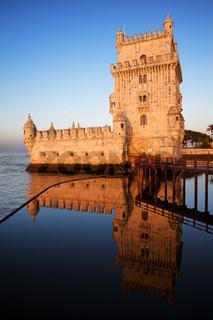 Belem Tower at Sunrise in Lisbon