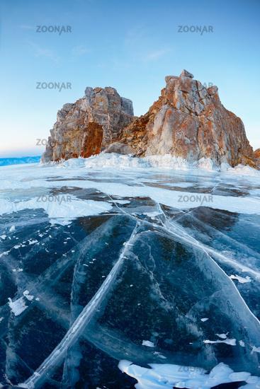 Shamanka mount on Baikal lake