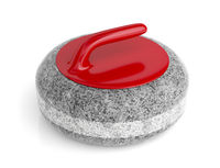 Curling stone on white